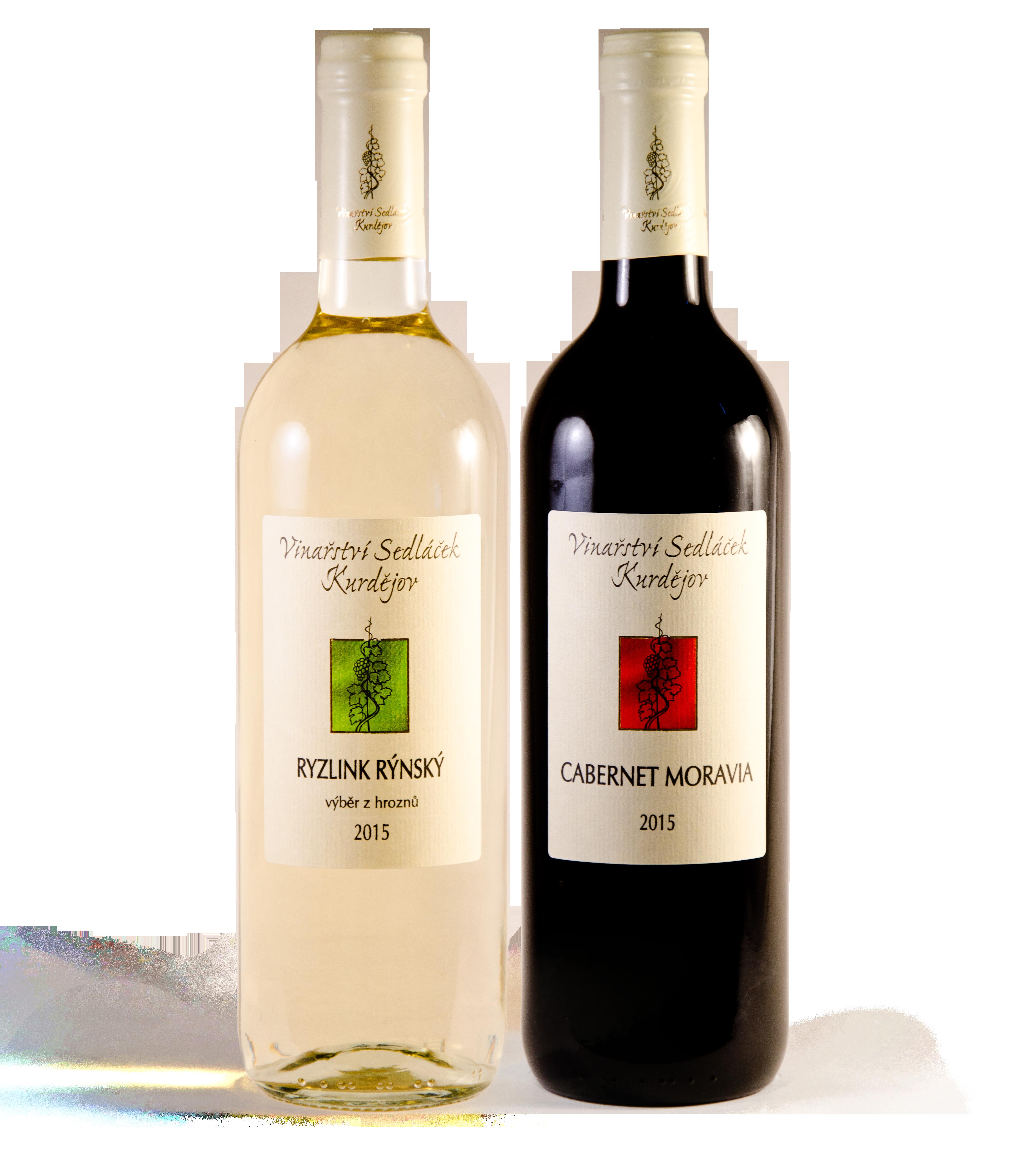 lahve vína Sedláček Kurdějov