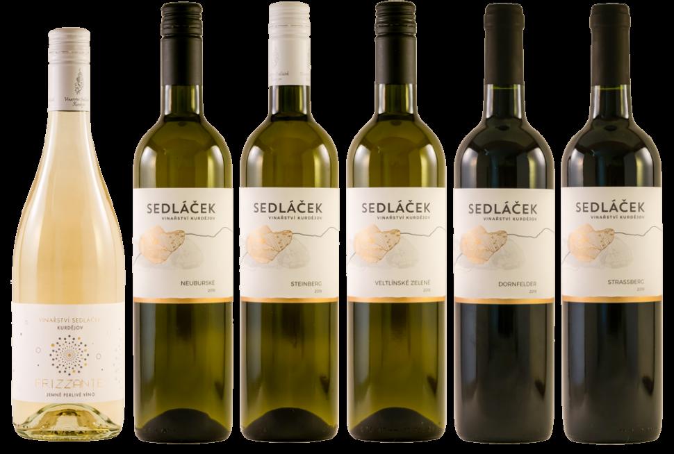 šest lahví vín kVánocům aSilvestru