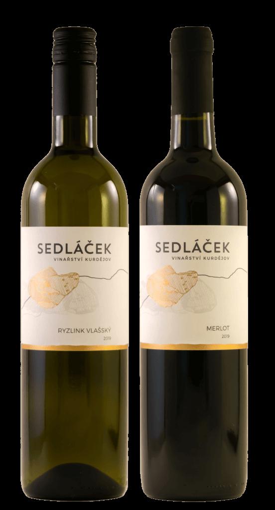 Dvě lahve vína
